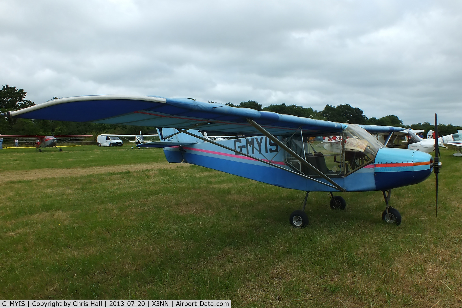 G-MYIS, 1993 Rans S-6ESD Coyote II C/N PFA 204-12382, at the Stoke Golding stakeout 2013