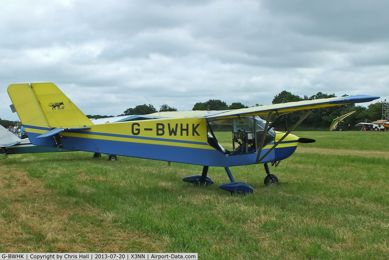 G-BWHK, 1995 Rans S-6-116 Coyote II C/N PFA 204A-12908, at the Stoke Golding stakeout 2013