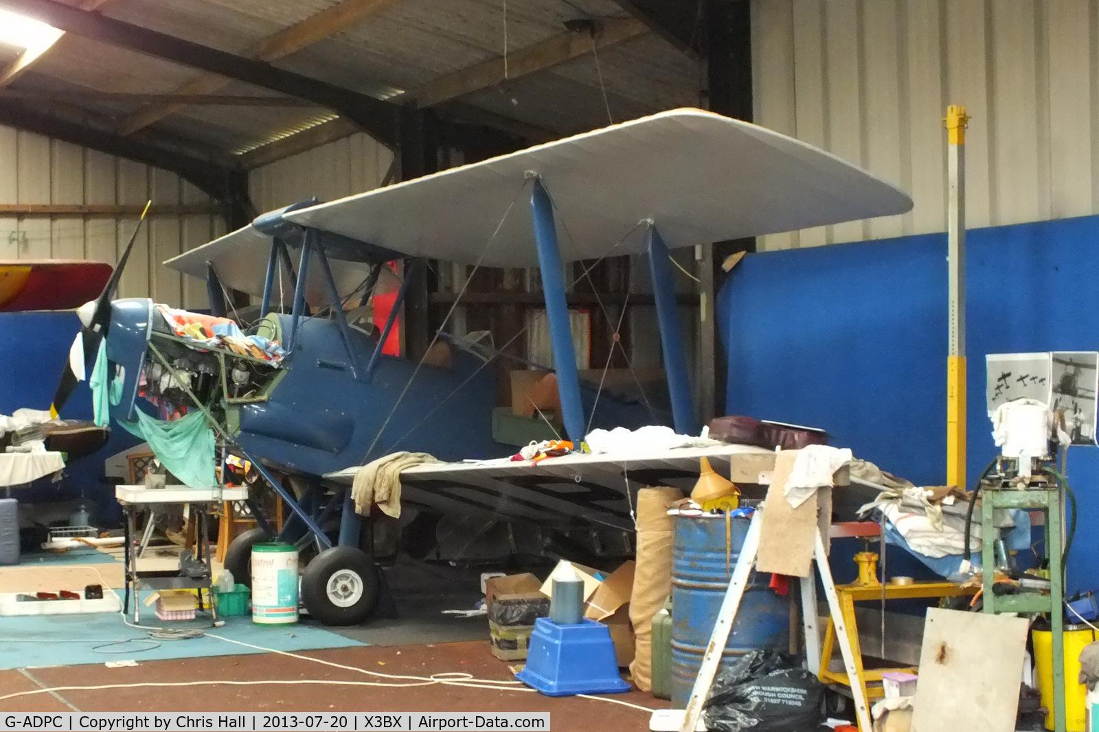 G-ADPC, 1935 De Havilland DH-82A Tiger Moth II C/N 3393, at Charity Farm, Baxterley