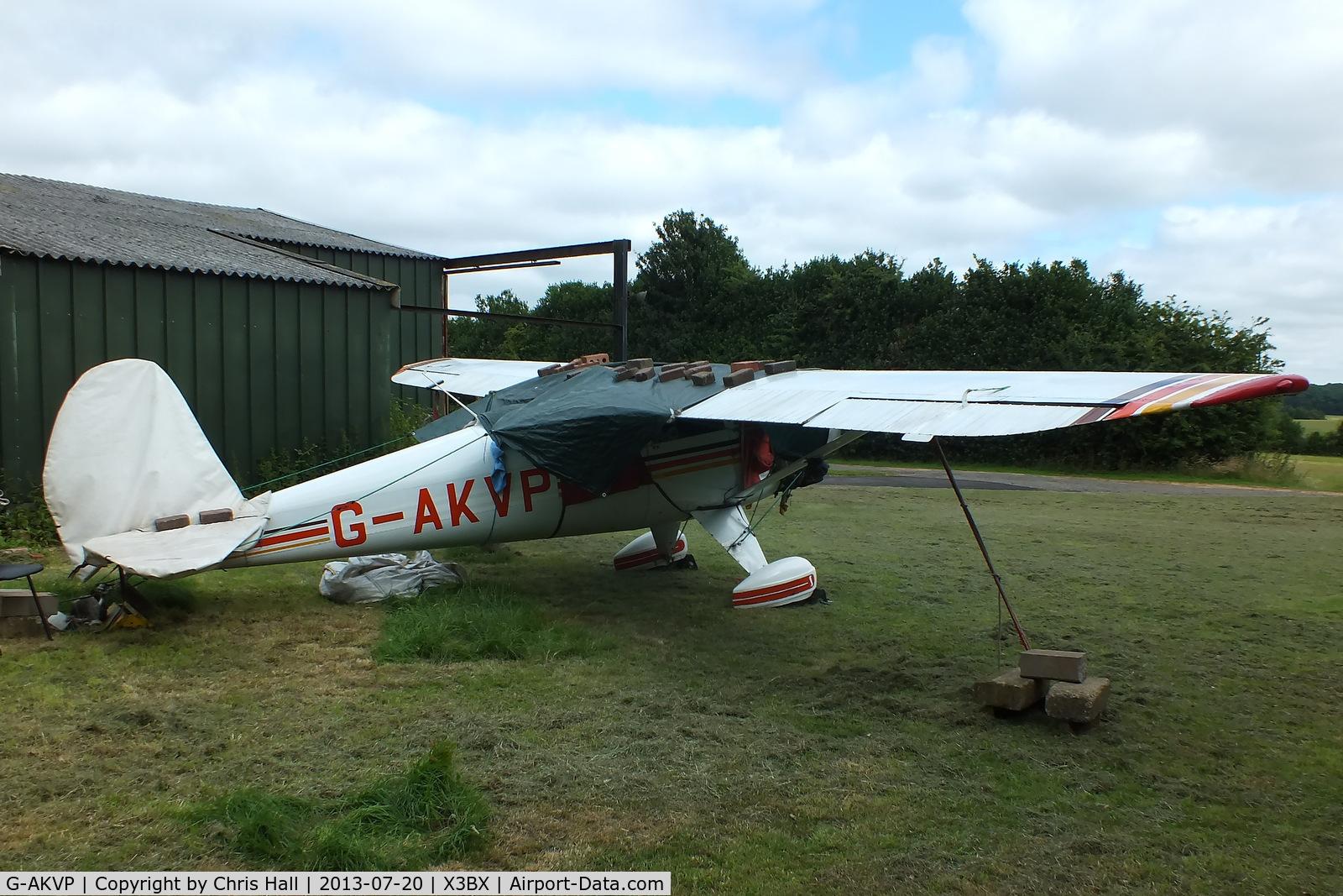 G-AKVP, 1948 Luscombe 8A C/N 5549, at Charity Farm, Baxterley