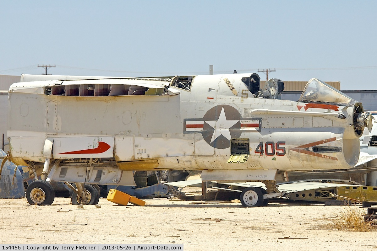 154456, 1958 LTV A-7B Corsair II C/N B-096, In a scrapyard in Rosamond , California