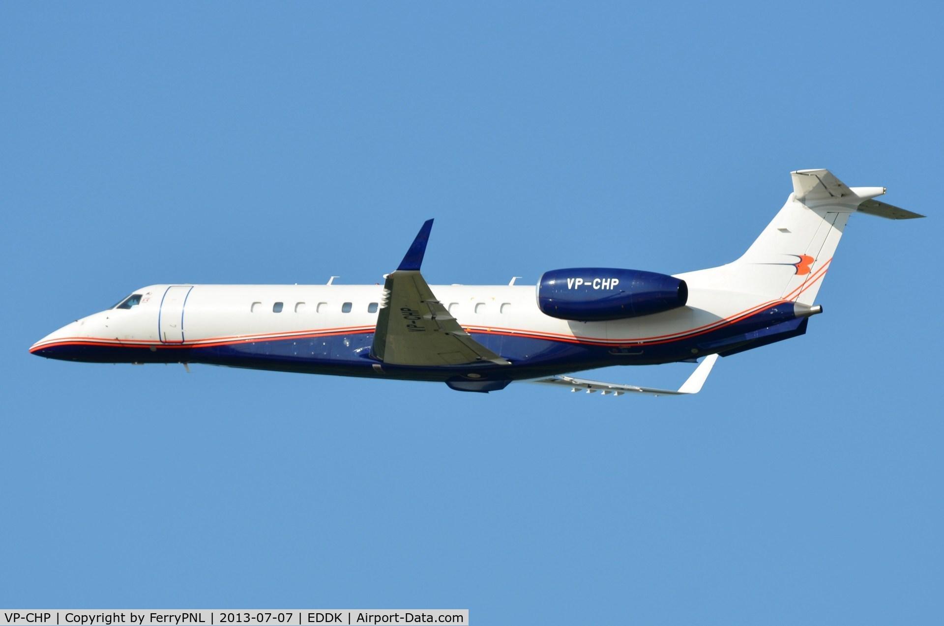 VP-CHP, 2004 Embraer EMB-135BJ Legacy C/N 14500802, Rubens Barrichello departing CGN in his ERJ135L
