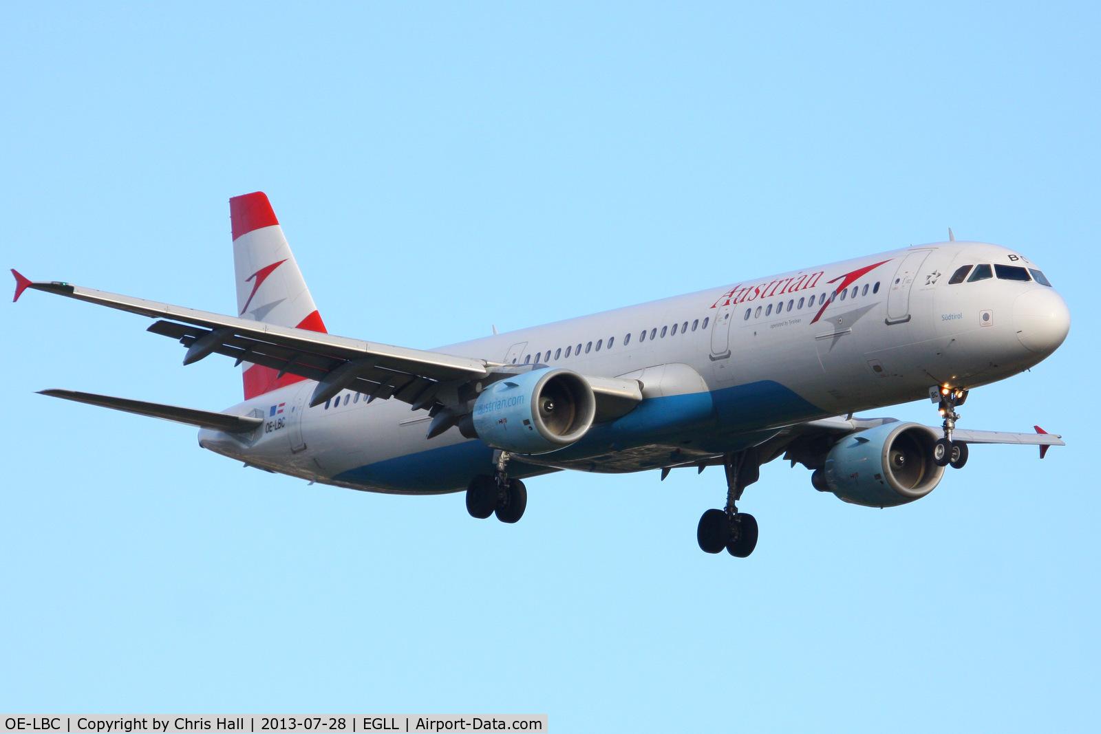 OE-LBC, 1996 Airbus A321-111 C/N 581, Austrian Airlines