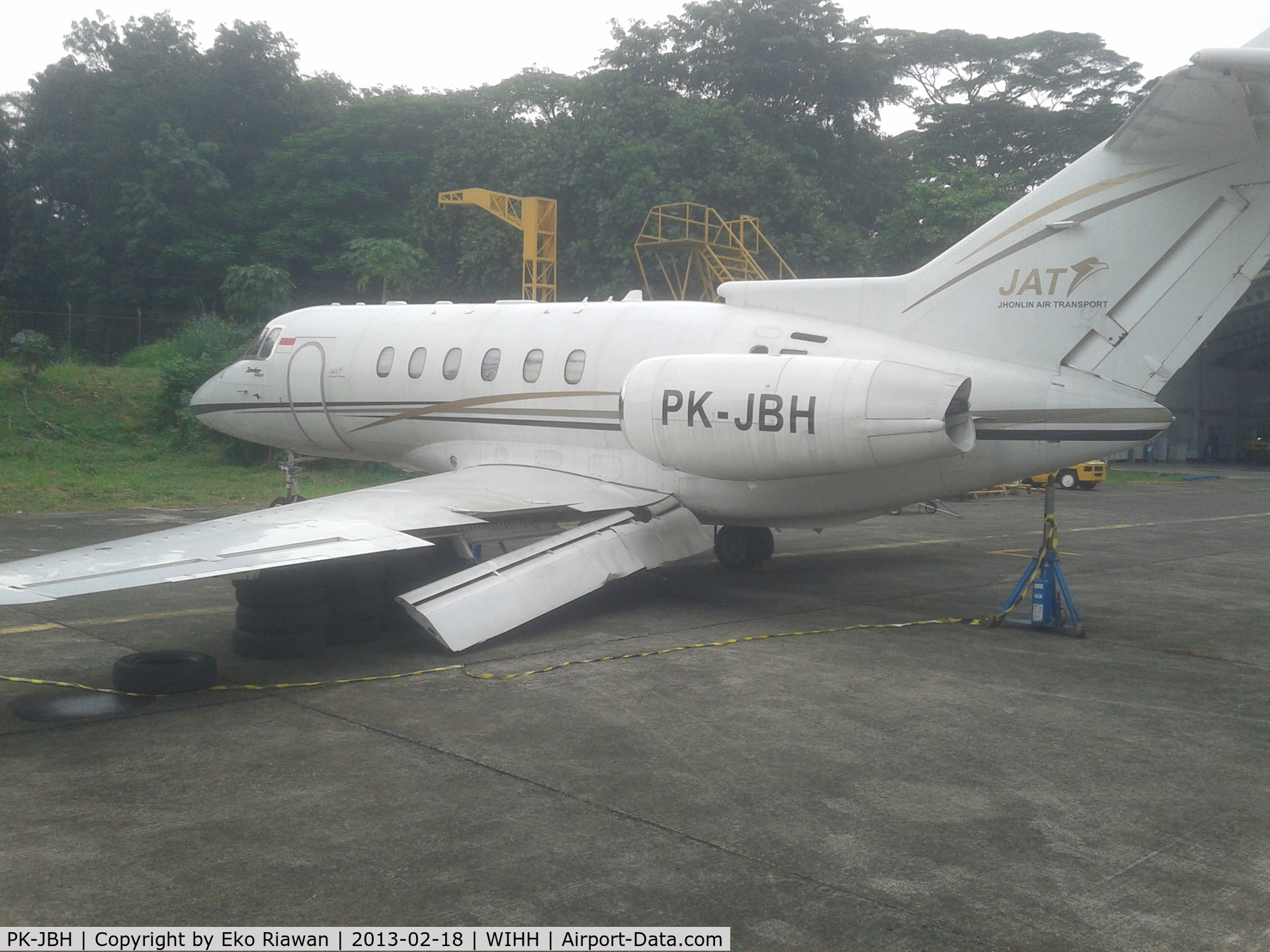 PK-JBH, Beechcraft Hawker 900XP C/N Not found PK-JBH, crashed on landing February 2013 in Halim airport, Jakarta