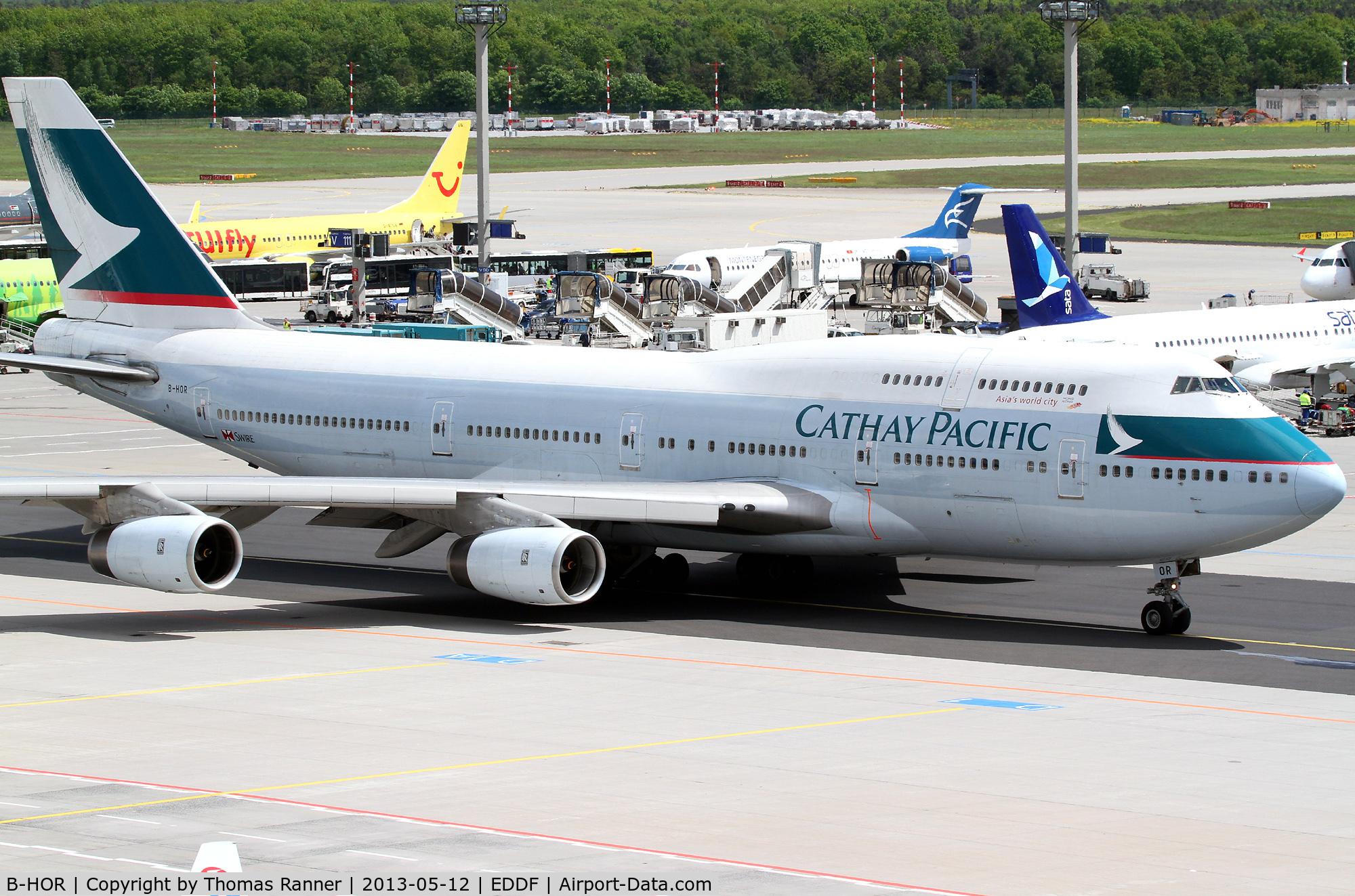 B-HOR, 1990 Boeing 747-467 C/N 24631, Cathay Pacific B747