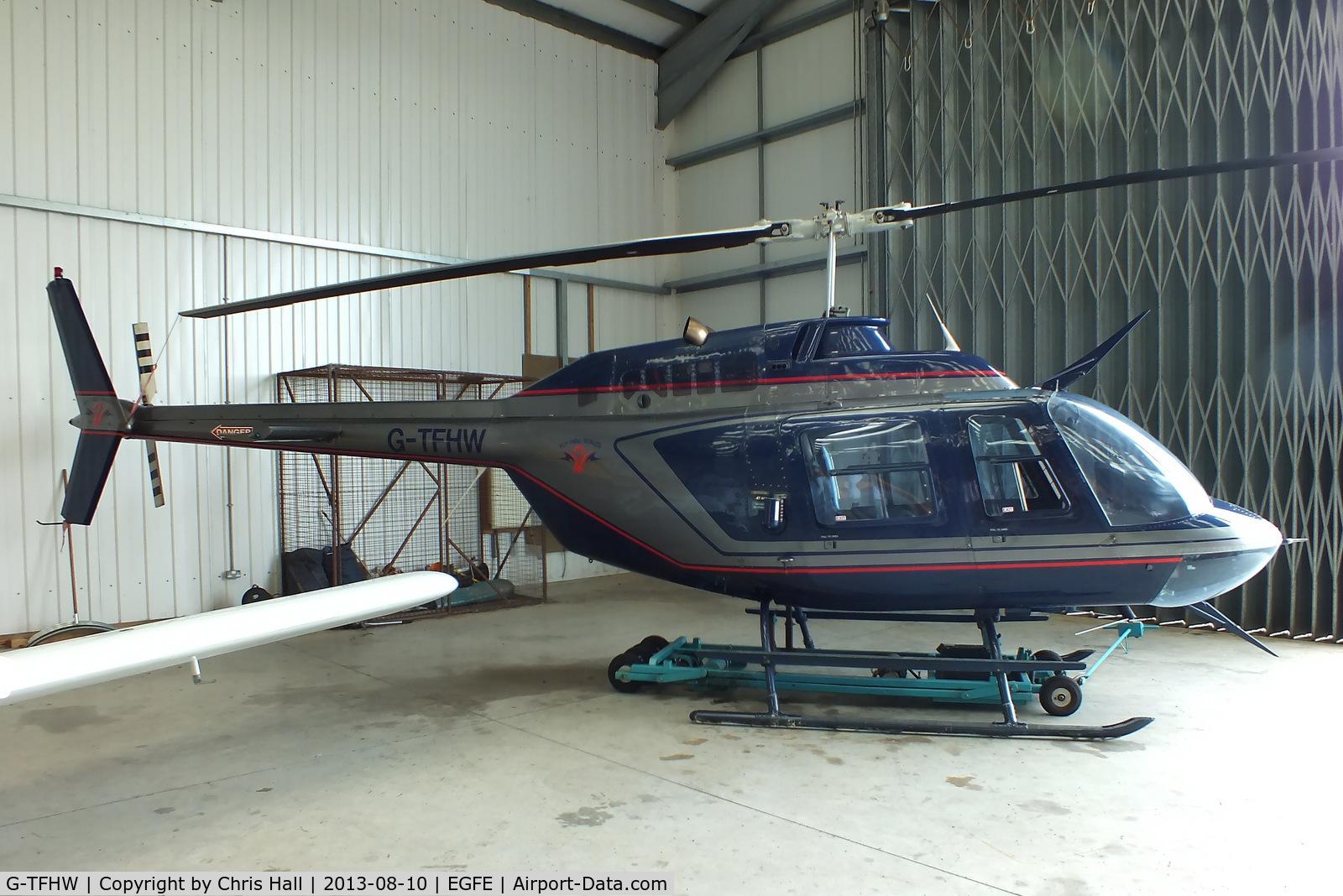 G-TFHW, 1980 Bell 206B JetRanger III C/N 3179, Fly Heli Wales