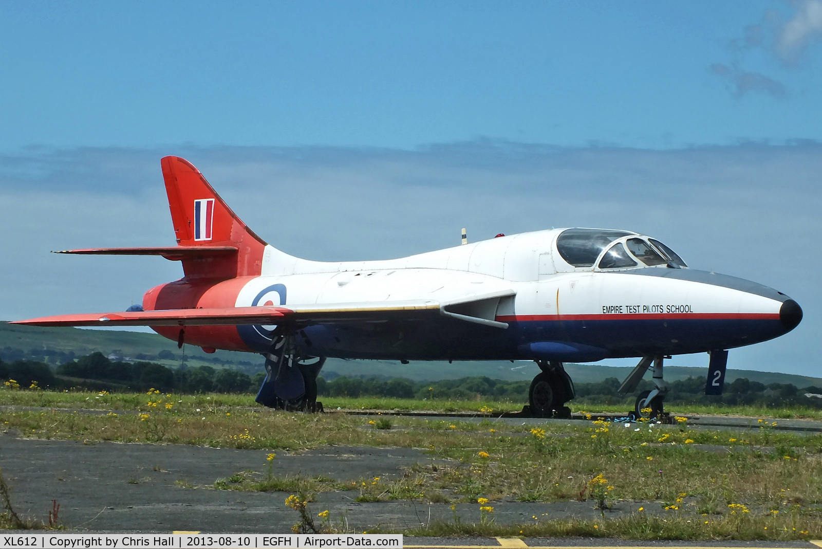 XL612, 1958 Hawker Hunter T.7 C/N 41H-695346, former Empire Test Pilots School now owned by Hunter Flying Ltd