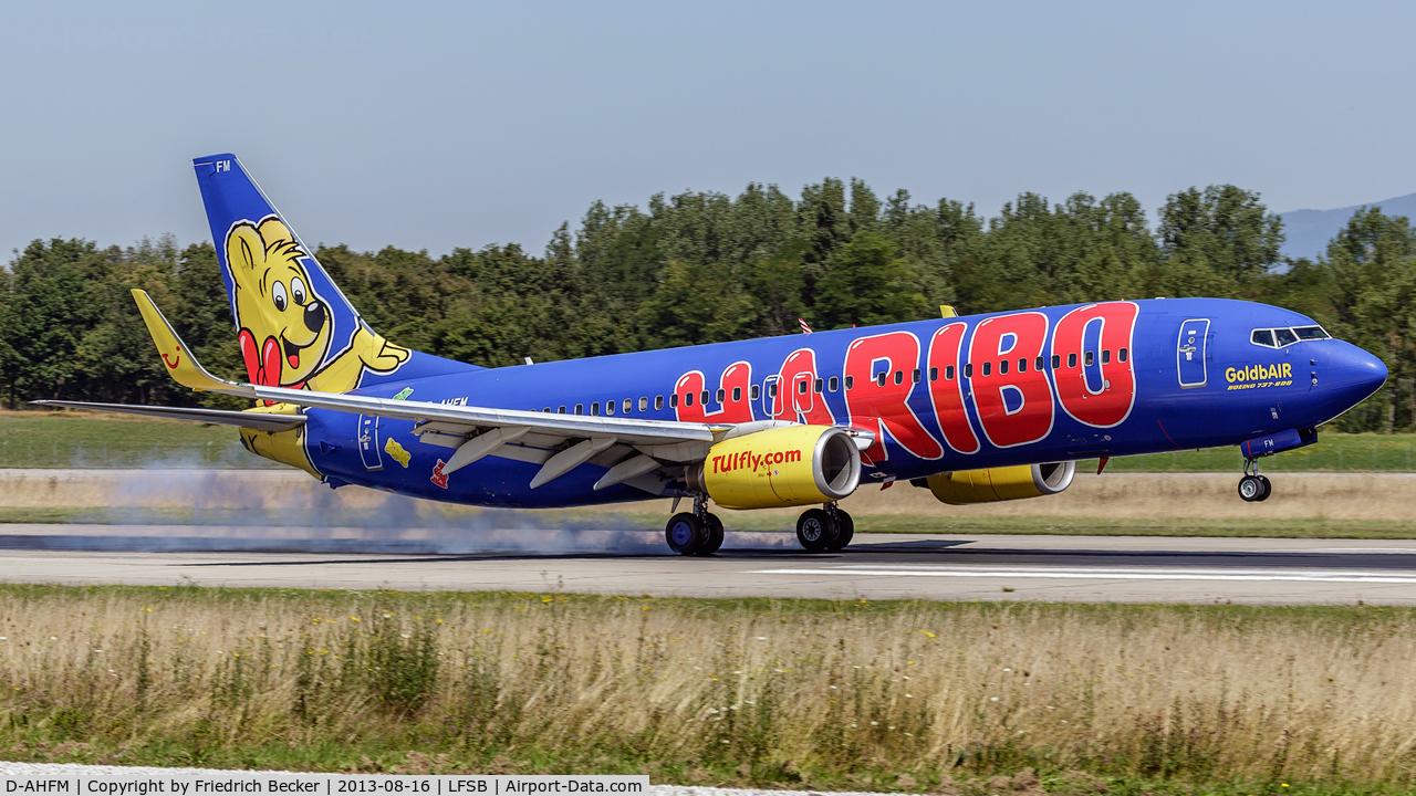 D-AHFM, 2000 Boeing 737-8K5 C/N 27986, touchdown at Basel