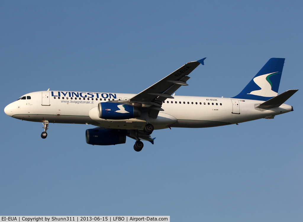 EI-EUA, 2004 Airbus A320-232 C/N 2210, Landing rwy 32L and used by Syphax Airlines for the summer 2013...