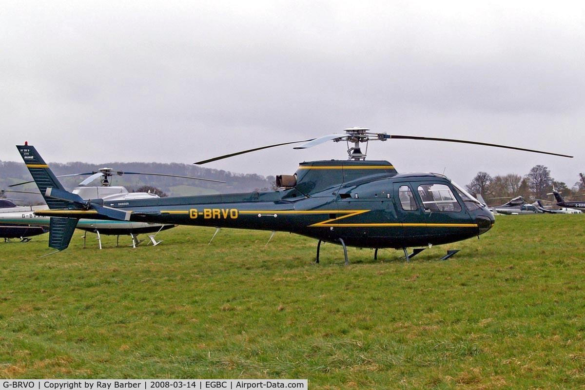 G-BRVO, 1990 Aerospatiale AS-350B Ecureuil C/N 2315, Aerospatiale AS.350B Ecureuil [2315] Cheltenham~G 14/03/2008