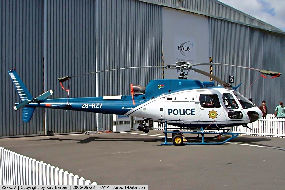 ZS-RZV, 2006 Eurocopter AS-350B-3 Ecureuil C/N 4031, Eurocopter AS.350B3 Ecureuil [4031] Police Ysterplaat~ZS 23/09/2006