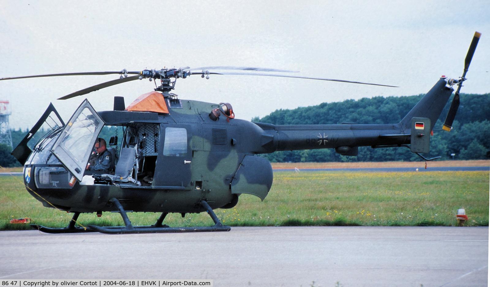 86 47, MBB Bo-105P C/N 6047, Volkel airshow 2004