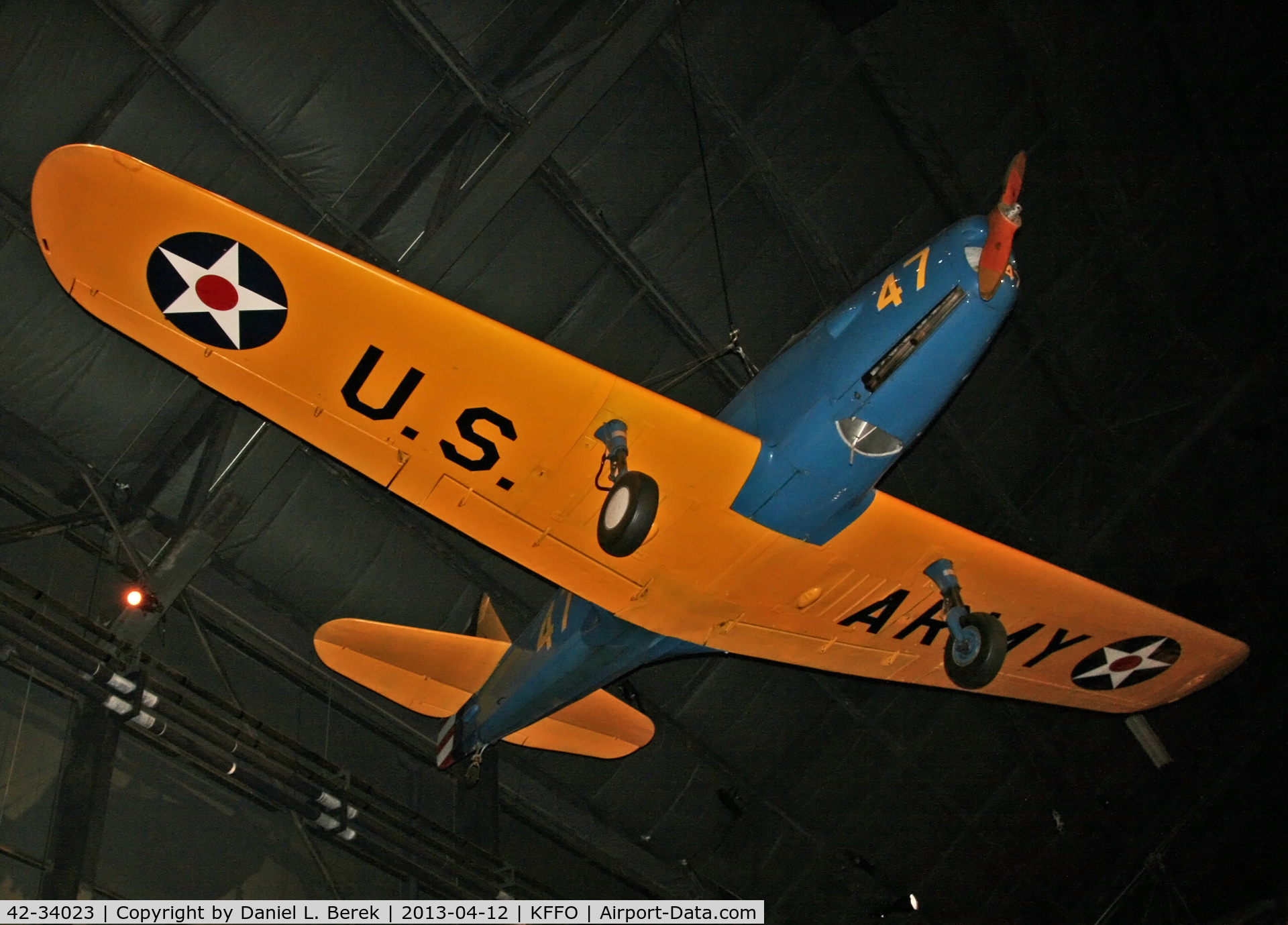 42-34023, 1942 Fairchild PT-19A-FA C/N TA42-3589, Lovely early primary trainer at the National Museum of the U.S. Air Force.