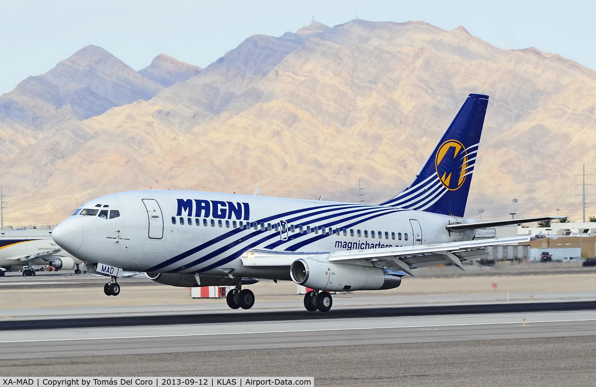 XA-MAD, 1982 Boeing 737-277 C/N 22652, XA-MAD Magnicharters Boeing 737-277/Adv (cn 22652/831)  McCarran International Airport (KLAS) TDelCoro September 12, 2013