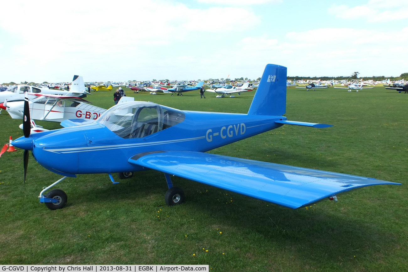 G-CGVD, 2011 Vans RV-12 C/N LAA 363-15005, at the LAA Rally 2013, Sywell