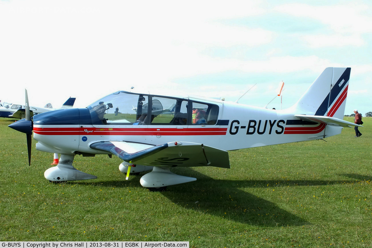 G-BUYS, 1993 Robin DR-400-180 Regent C/N 2197, at the LAA Rally 2013, Sywell