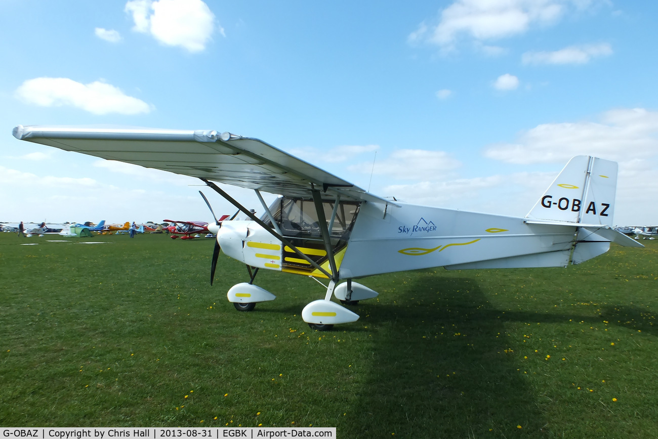 G-OBAZ, 2003 Best Off Skyranger 912(2) C/N BMAA/HB/322, at the LAA Rally 2013, Sywell