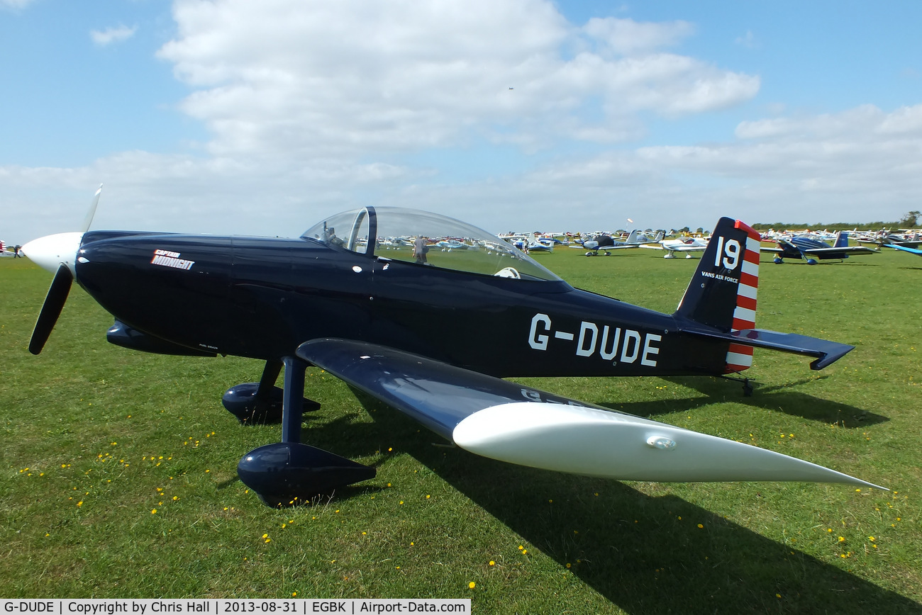 G-DUDE, 2004 Vans RV-8 C/N PFA 303-13246, at the LAA Rally 2013, Sywell
