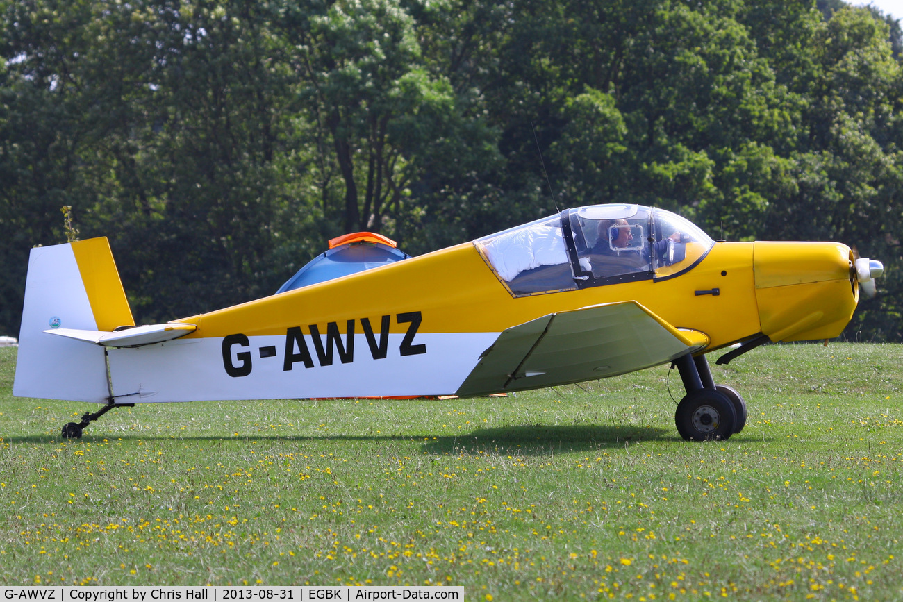 G-AWVZ, 1963 Jodel D112 C/N 898, at the LAA Rally 2013, Sywell