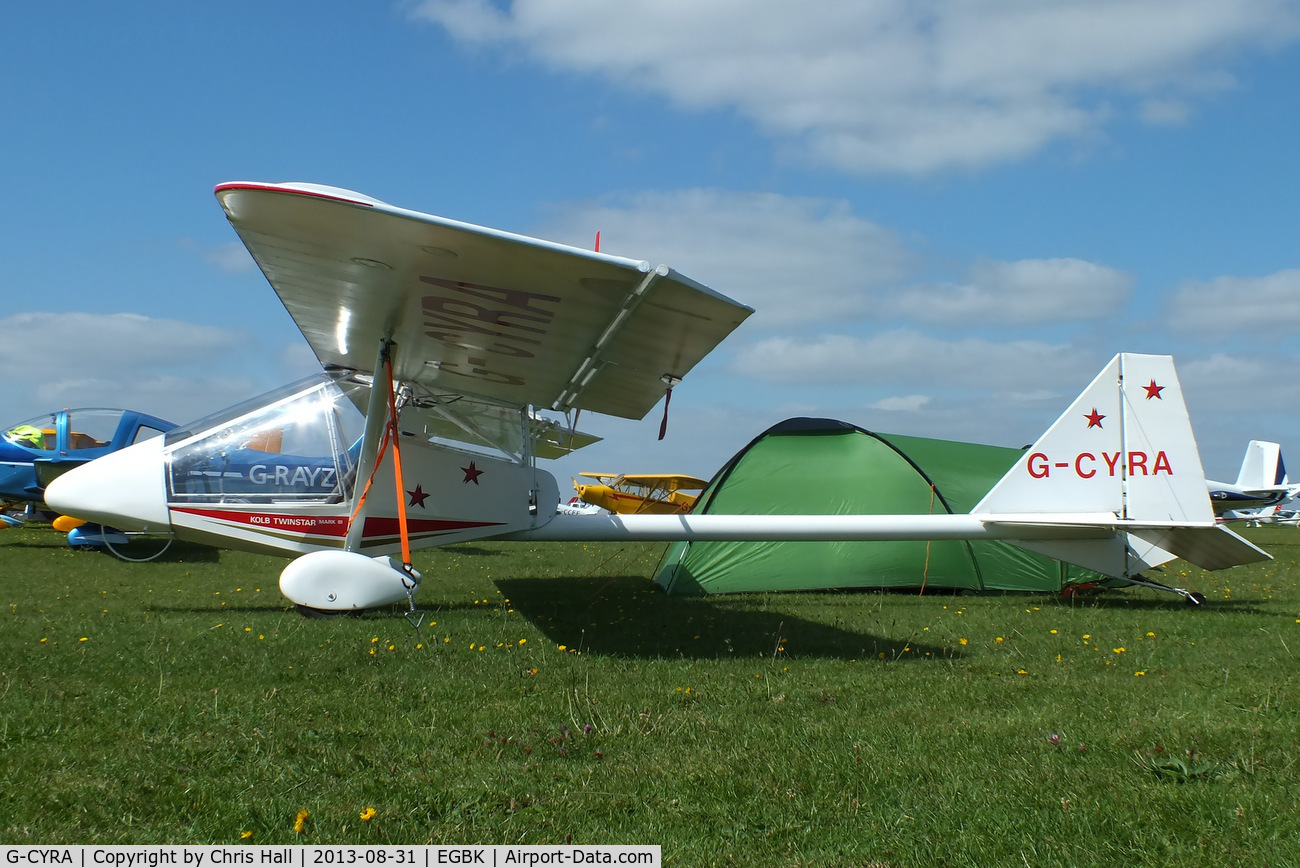 G-CYRA, 1994 Kolb Twinstar Mk III C/N PFA 205-12434, at the LAA Rally 2013, Sywell