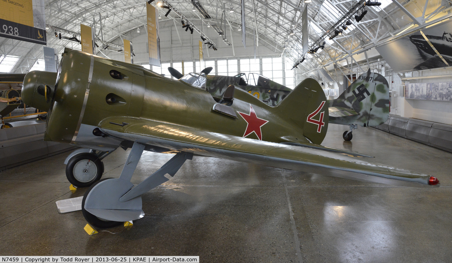N7459, 1940 Polikarpov I-16 Type 24 C/N 2421014, Part of the Flying Heritage Collection