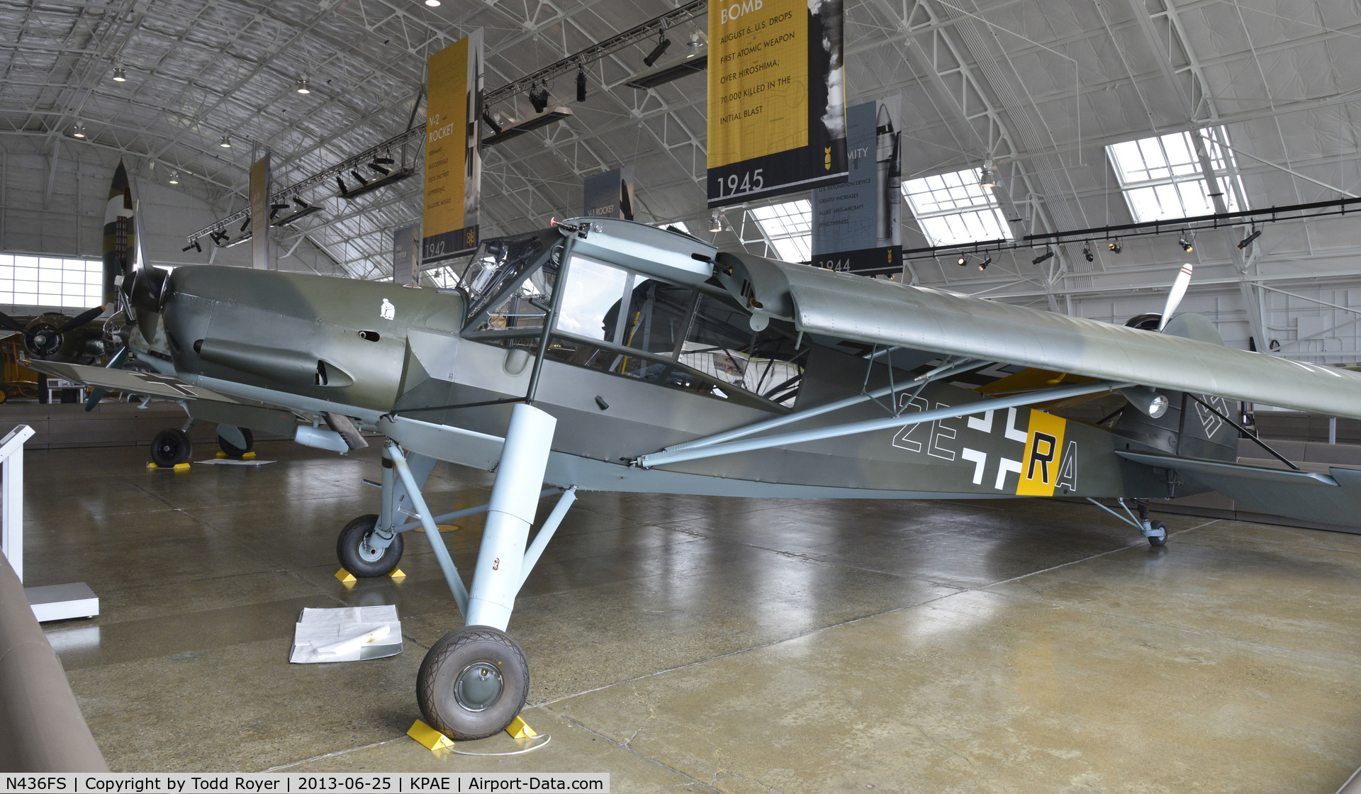 N436FS, Fieseler Fi-156C-2 Storch C/N 4362, Part of the Flying Heritage Collection