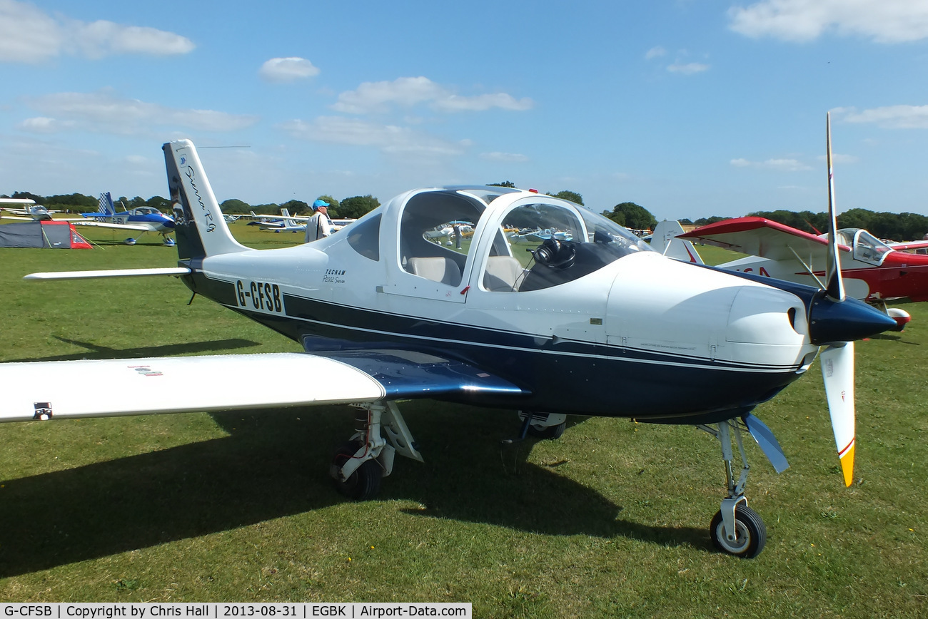 G-CFSB, 2008 Tecnam P-2002RG Sierra C/N LAA 333A-14864, at the LAA Rally 2013, Sywell