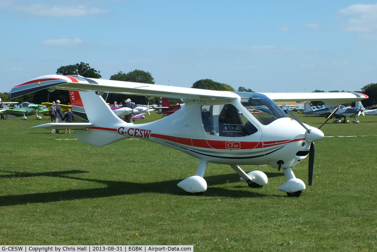 G-CESW, 2007 Flight Design CTSW C/N 8296, at the LAA Rally 2013, Sywell