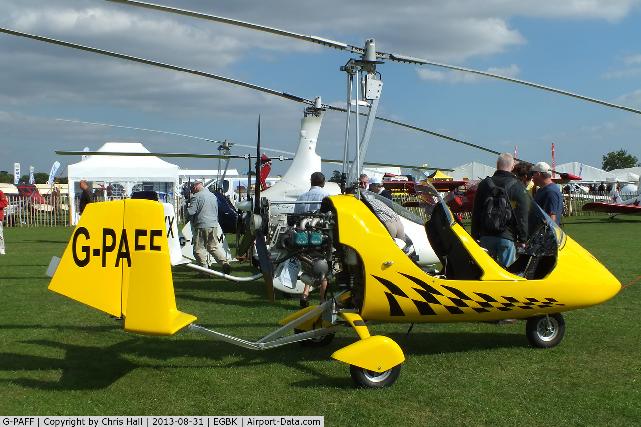 G-PAFF, 2011 Rotorsport UK MTOsport C/N RSUK/MTOS/039, at the LAA Rally 2013, Sywell