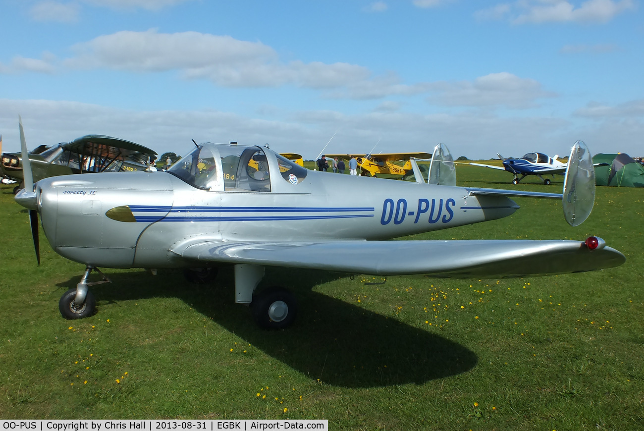 OO-PUS, 1947 Erco 415D Ercoupe C/N 4577, at the LAA Rally 2013, Sywell