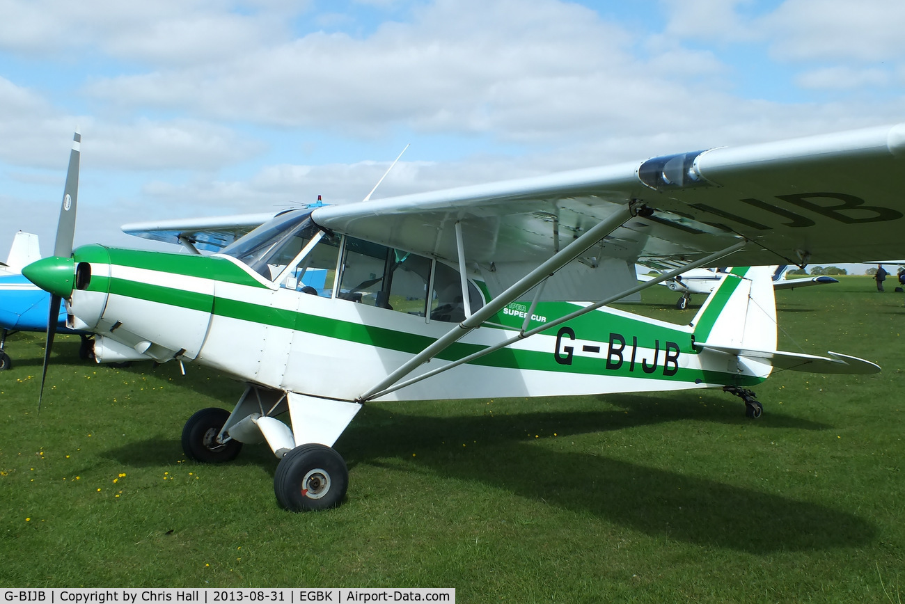 G-BIJB, 1980 Piper PA-18-150 Super Cub C/N 18-8009001, at the LAA Rally 2013, Sywell