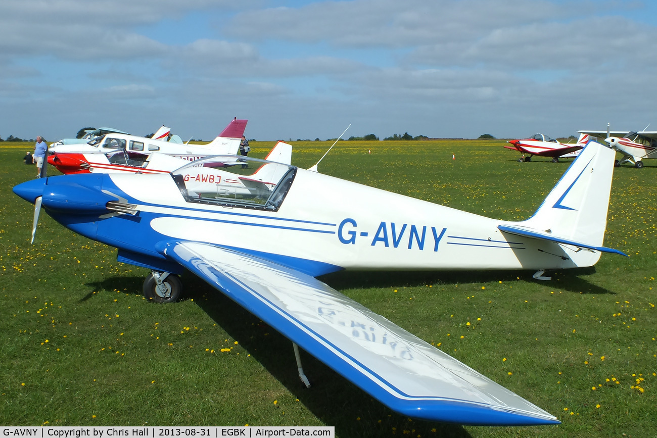 G-AVNY, 1967 Sportavia-Putzer Fournier RF-4D C/N 4029, at the LAA Rally 2013, Sywell
