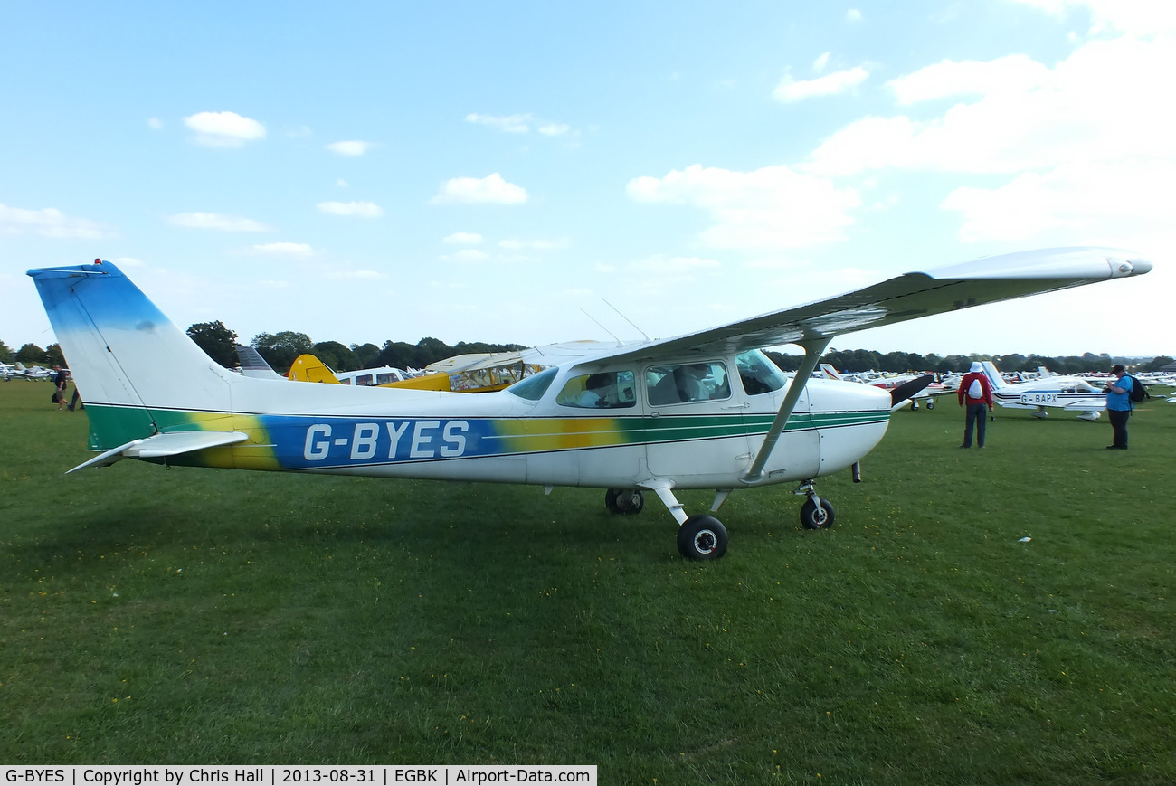 G-BYES, 1981 Cessna 172P Skyhawk C/N 172-74514, at the LAA Rally 2013, Sywell
