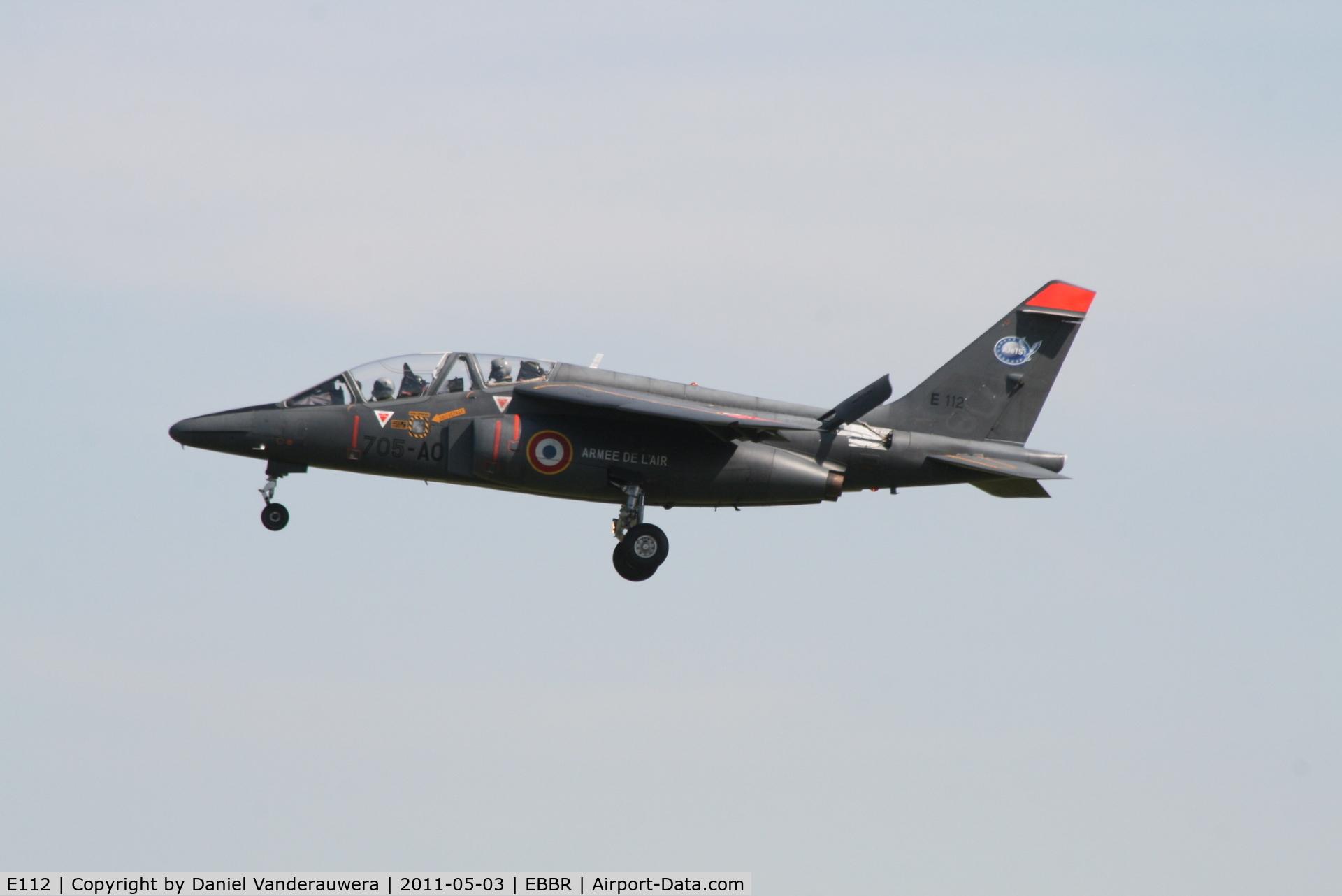 E112, Dassault-Dornier Alpha Jet E C/N E112, Descending to RWY 02