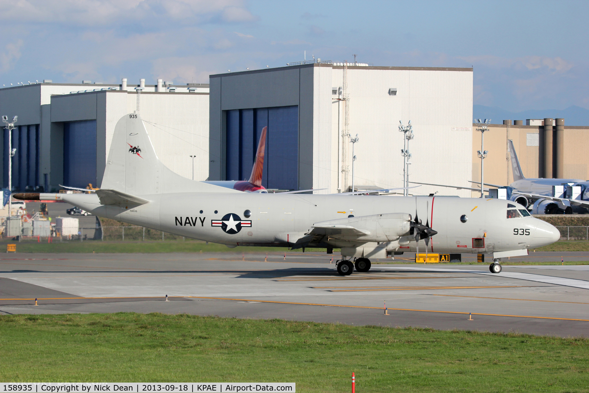 158935, Lockheed P-3C-IIIR Orion C/N 285A-5607, KPAE/PAE Arrived for a full stop landing and taxi back for take off.