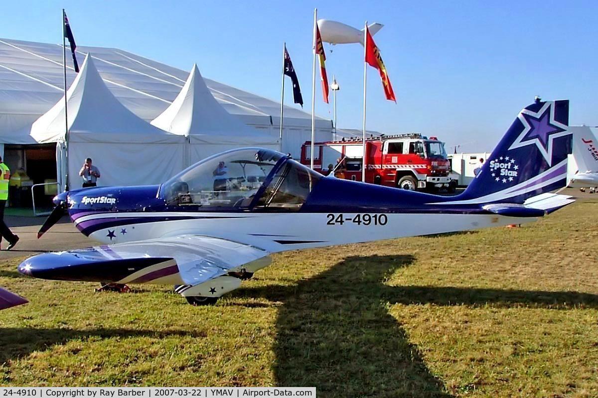 24-4910, 2006 Evektor-Aerotechnik SportStar C/N 2006-0808, Evektor SportStar [2006-0808] Avalon~VH 22/03/2007
