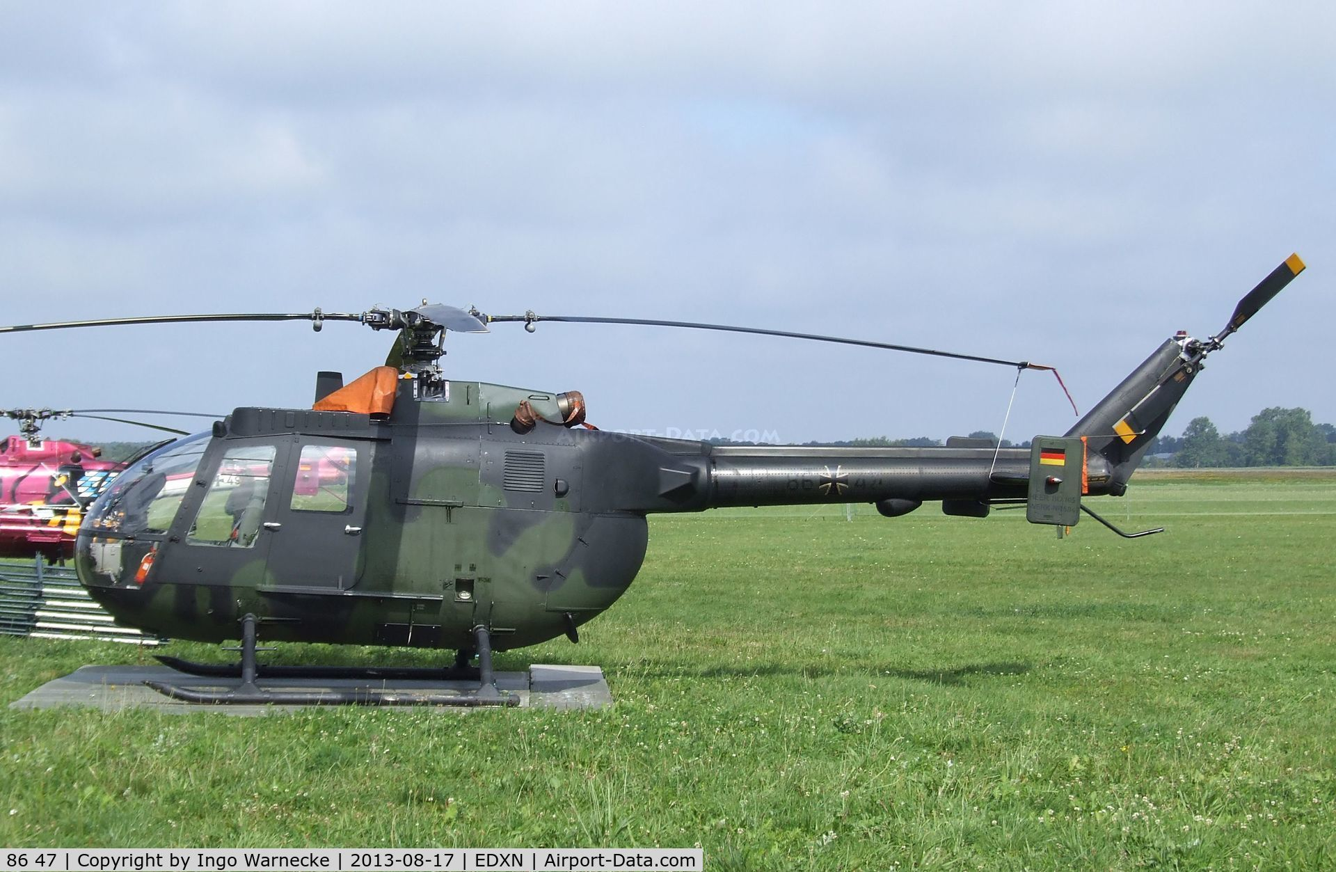 86 47, MBB Bo-105P C/N 6047, MBB Bo 105P of the German Army Aviation (Heeresflieger) at the Spottersday of the Nordholz Airday 2013 celebrationg 100 Years of German Naval Aviation at Nordholz Naval Aviation Base
