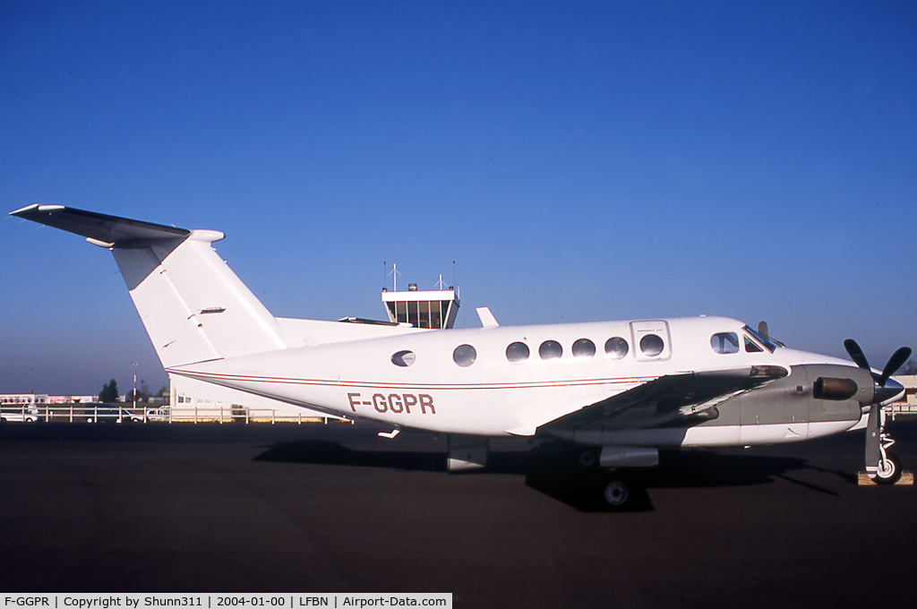 F-GGPR, Beech 200 C/N BB-681, Parked at the Airport...