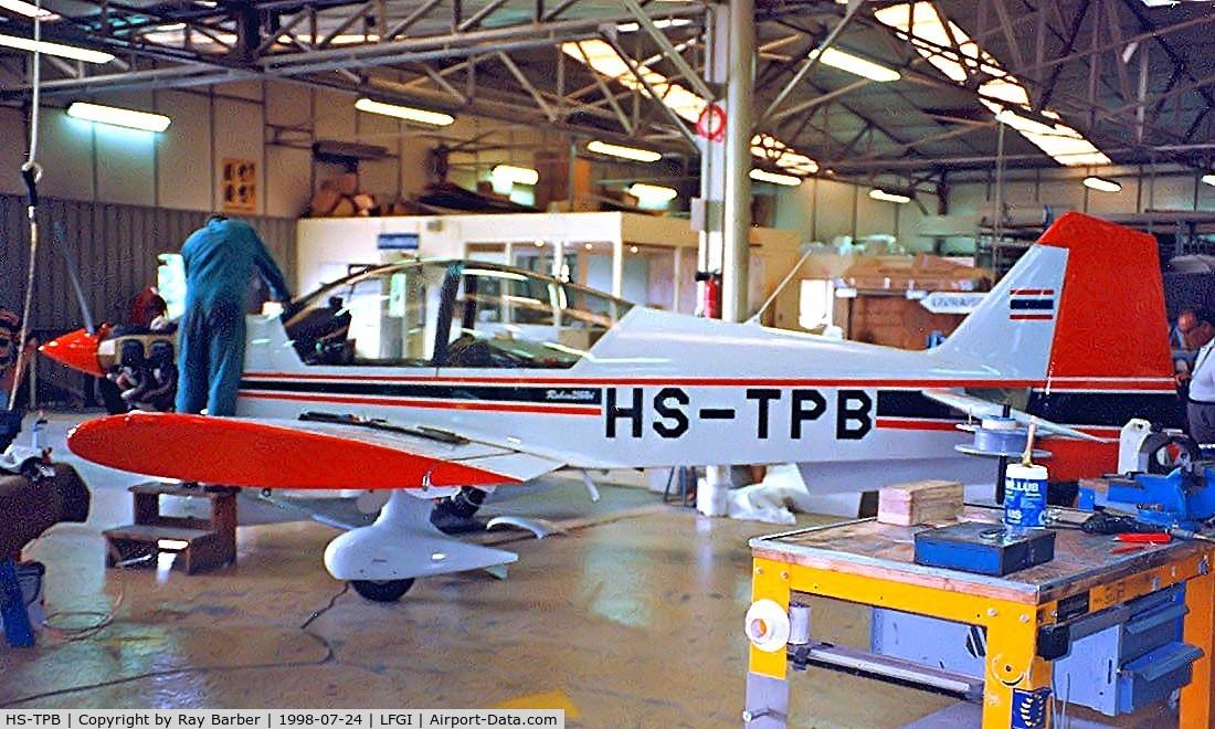 HS-TPB, 1999 Robin R-2160i Alpha Sport Alpha Sport C/N 324, Robin R.2160i Alpha Sport [324] (Civil Aviation Training Centre) Dijon-Darois~F 24/07/1998. Being prepared in the Robin production facility.