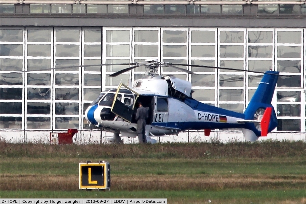 D-HOPE, Aerospatiale SA-365C Dauphin 2 C/N 5009, Preparations for next control flight are running...
