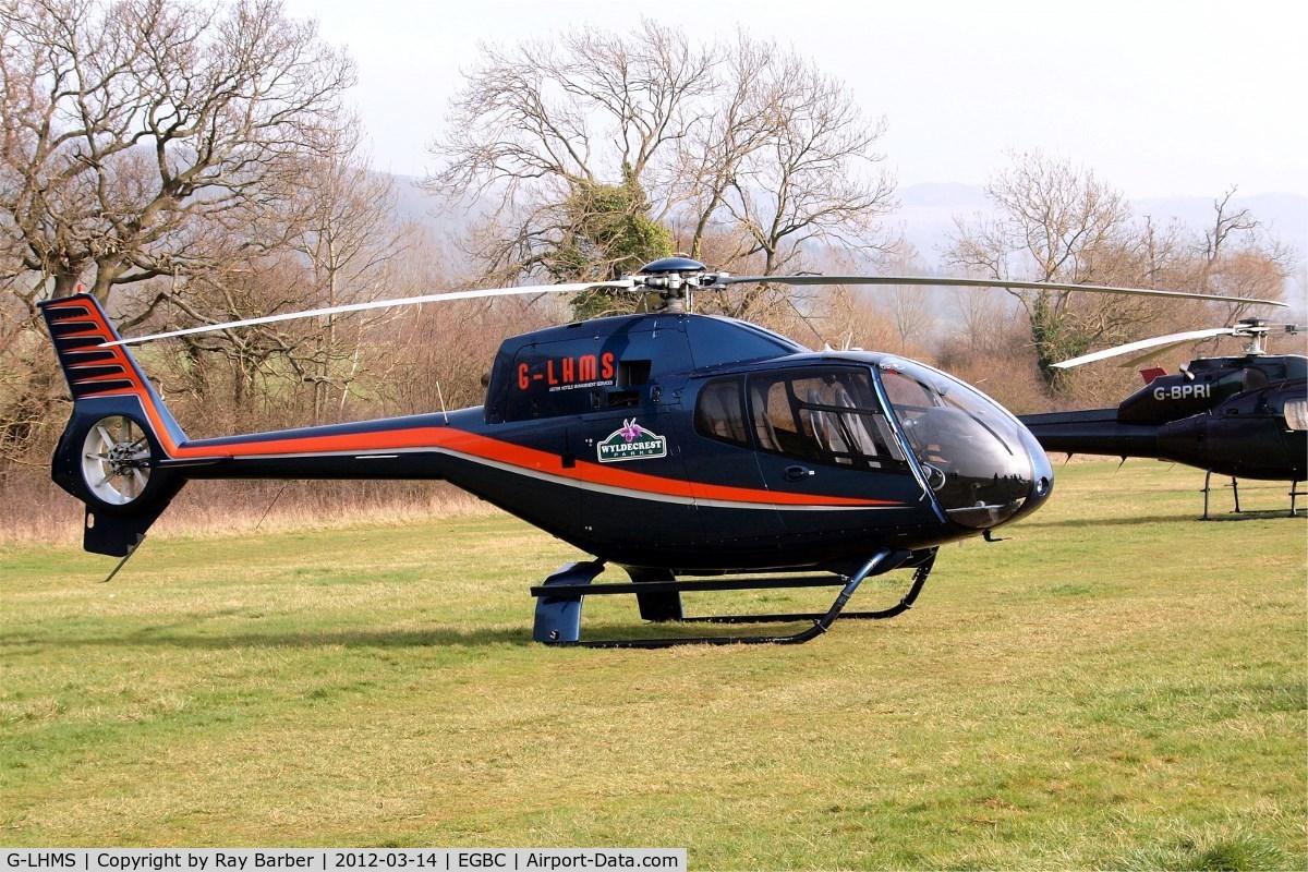 G-LHMS, 2006 Eurocopter EC-120B Colibri C/N 1442, Eurocopter EC.120B Colibri [1442] (Hadley Helicopters Ltd) Cheltenham Racecourse~G 14/03/2012. Now wearing