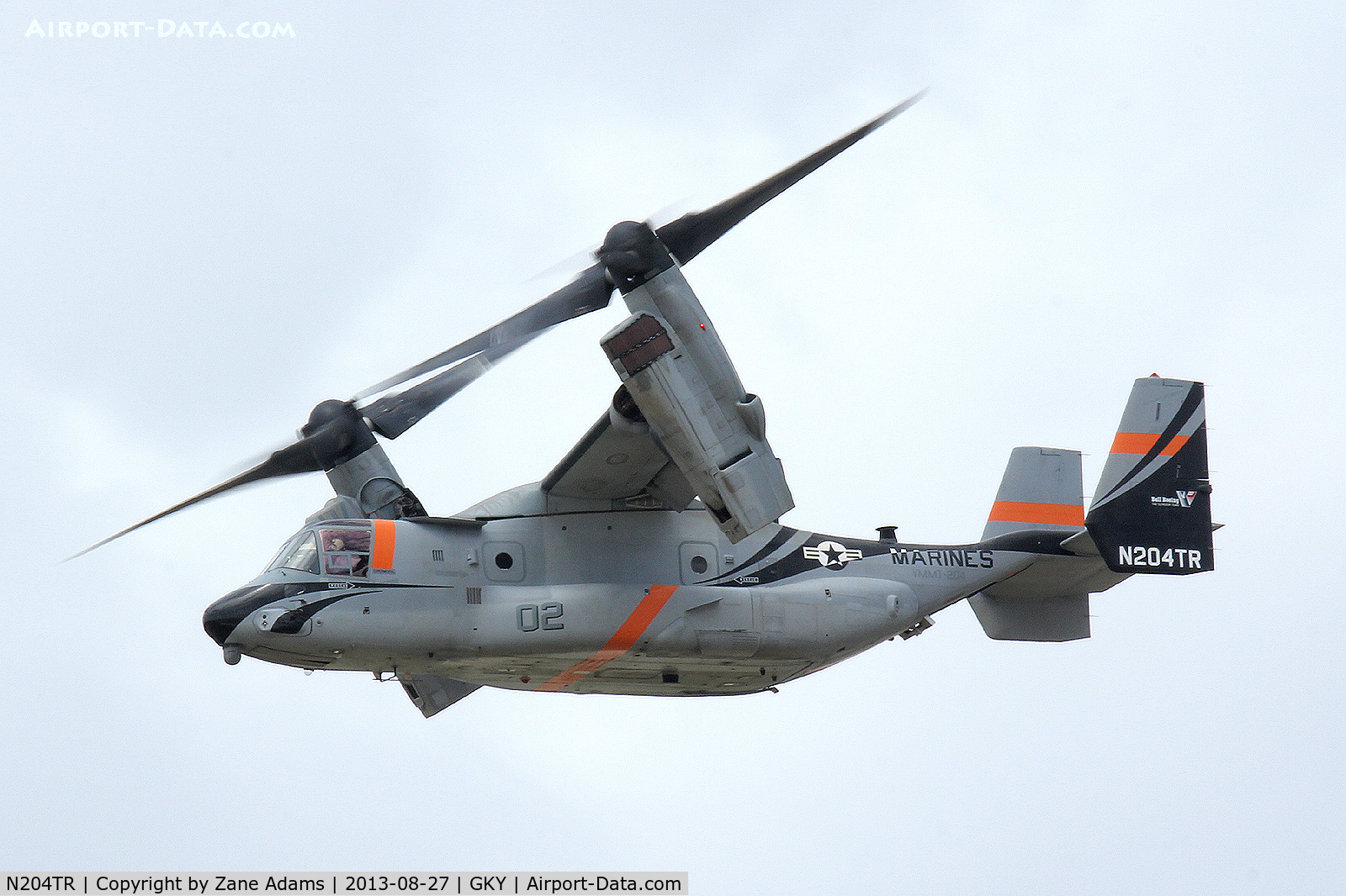 N204TR, Bell-Boeing MV-22B Osprey C/N D0043, MV-22 Osprey at Arlington Municipal - Undergoing intake modification and aerial refueling testing for the USMC