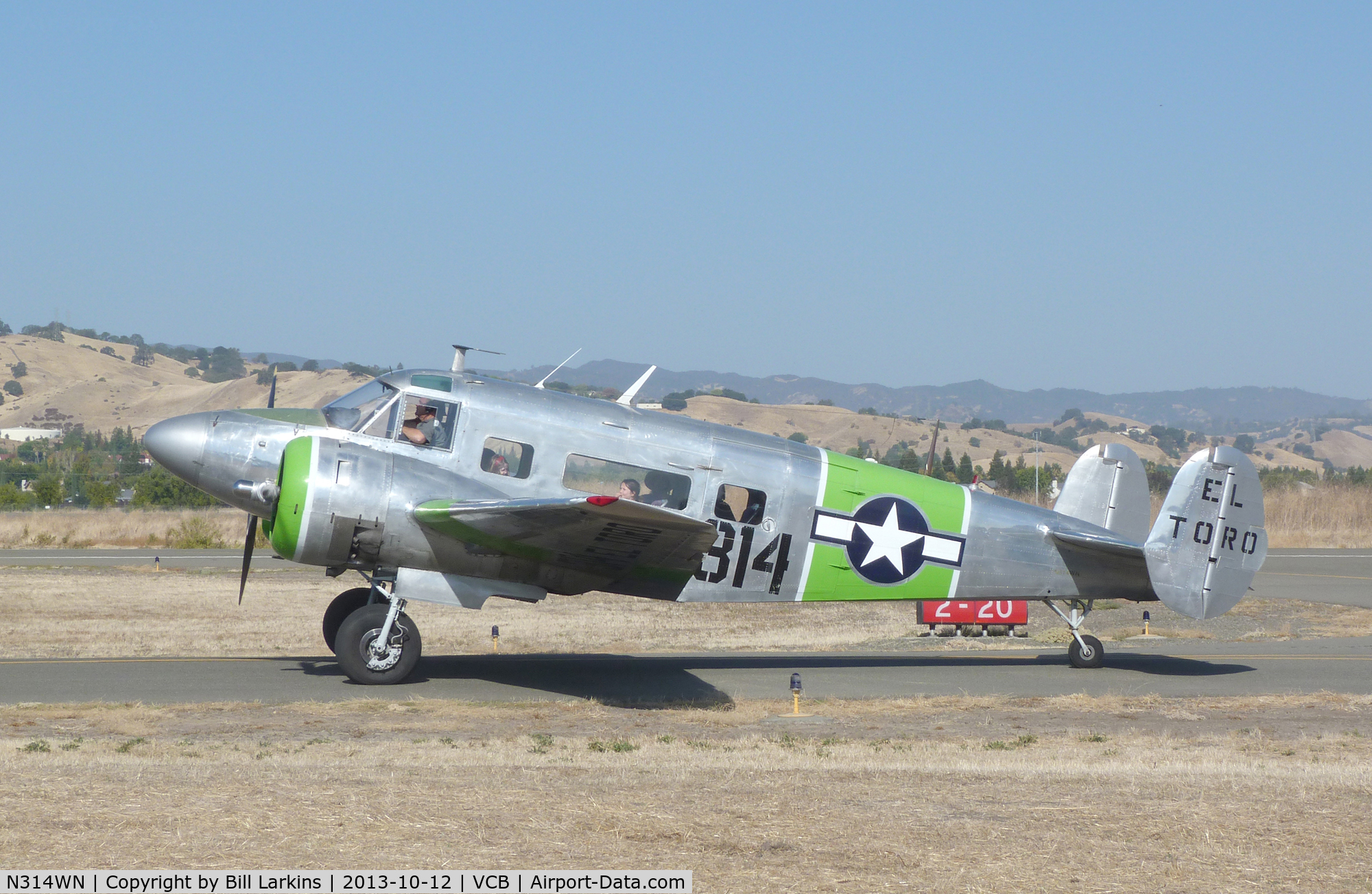 N314WN, 1952 Beech C-45H Expeditor C/N AF-566, At Mustang Day 2013