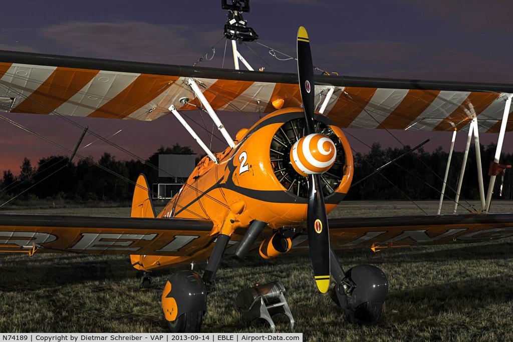 N74189, 1941 Boeing PT-17/R985 Kaydet (A75N1) C/N 75-717, Boeing PT17