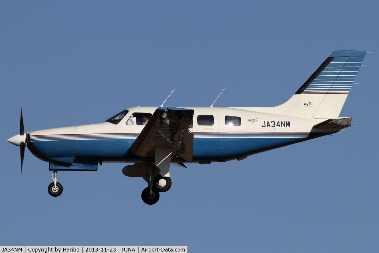 JA34NM, Piper PA-46-350P Malibu Mirage C/N 46-36029, 1996 Piper Malibu Mirage