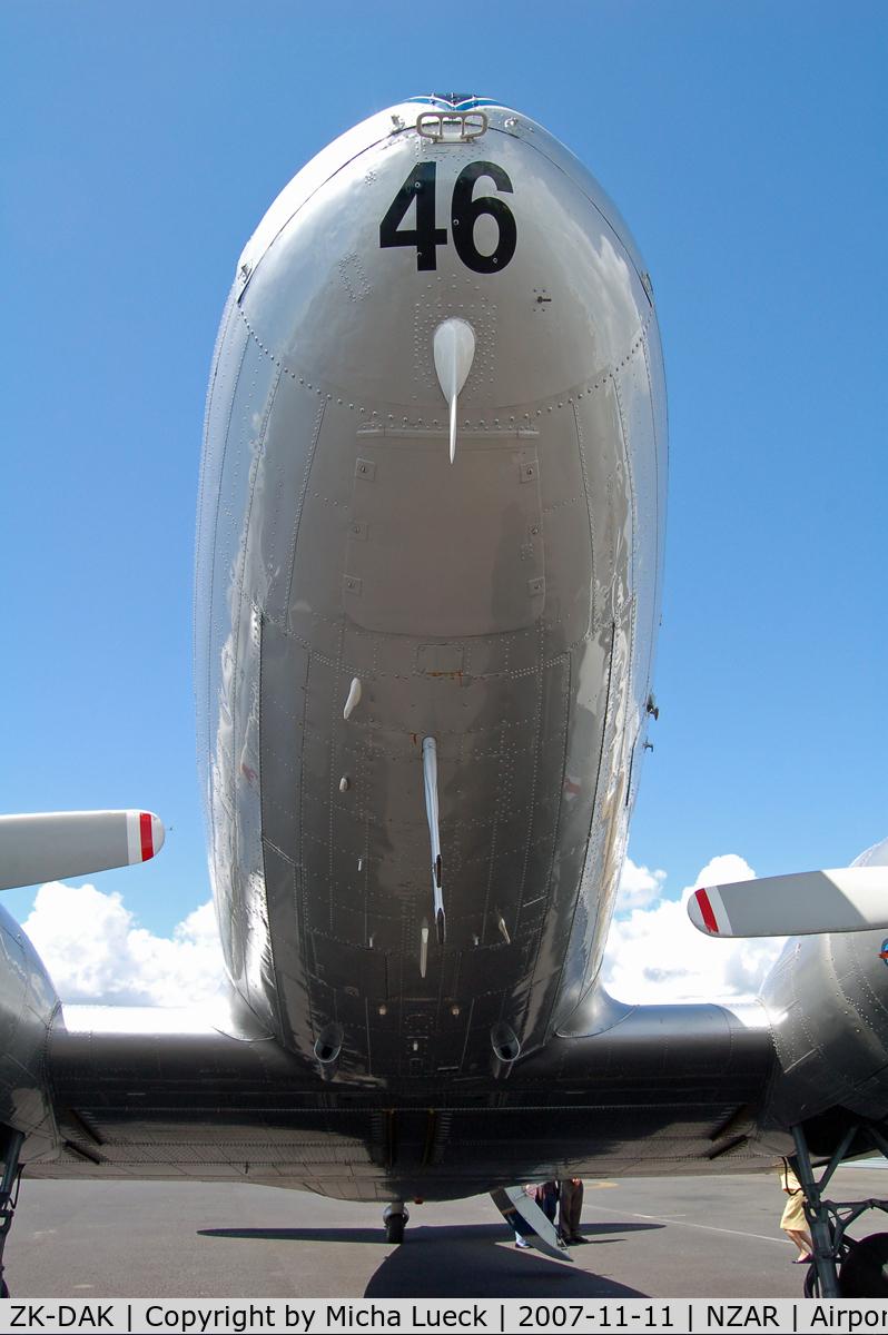 ZK-DAK, Douglas DC3C-S1C3G C/N 26480, At Ardmore