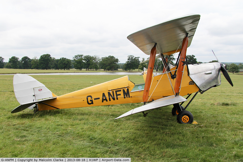 G-ANFM, 1941 De Havilland DH-82A Tiger Moth II C/N 83604, De Havilland DH-82A Tiger Moth II at The De Havilland Moth Club's 28th International Moth Rally at Woburn Abbey. August 2013.