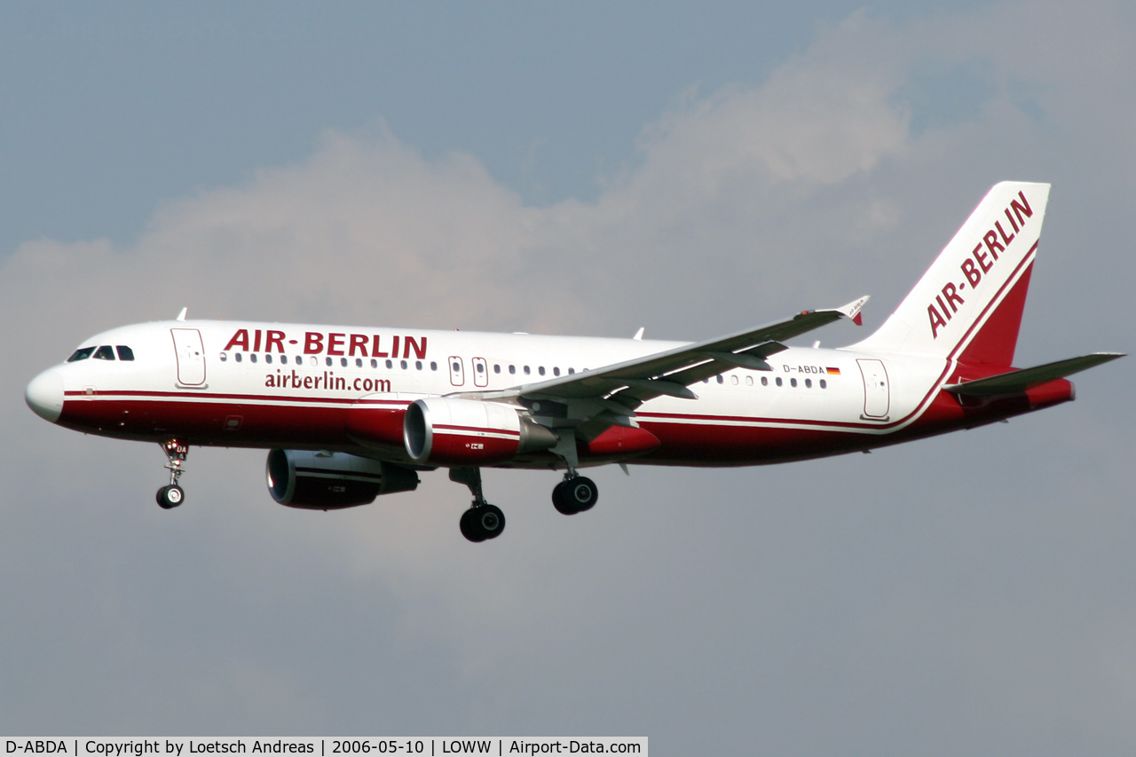 D-ABDA, 2005 Airbus A320-214 C/N 2539, Air Berlin