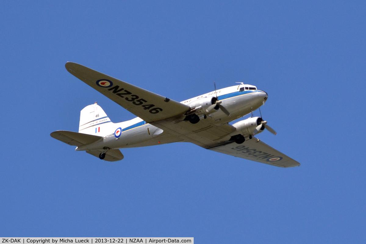 ZK-DAK, Douglas DC3C-S1C3G C/N 26480, At Auckland
