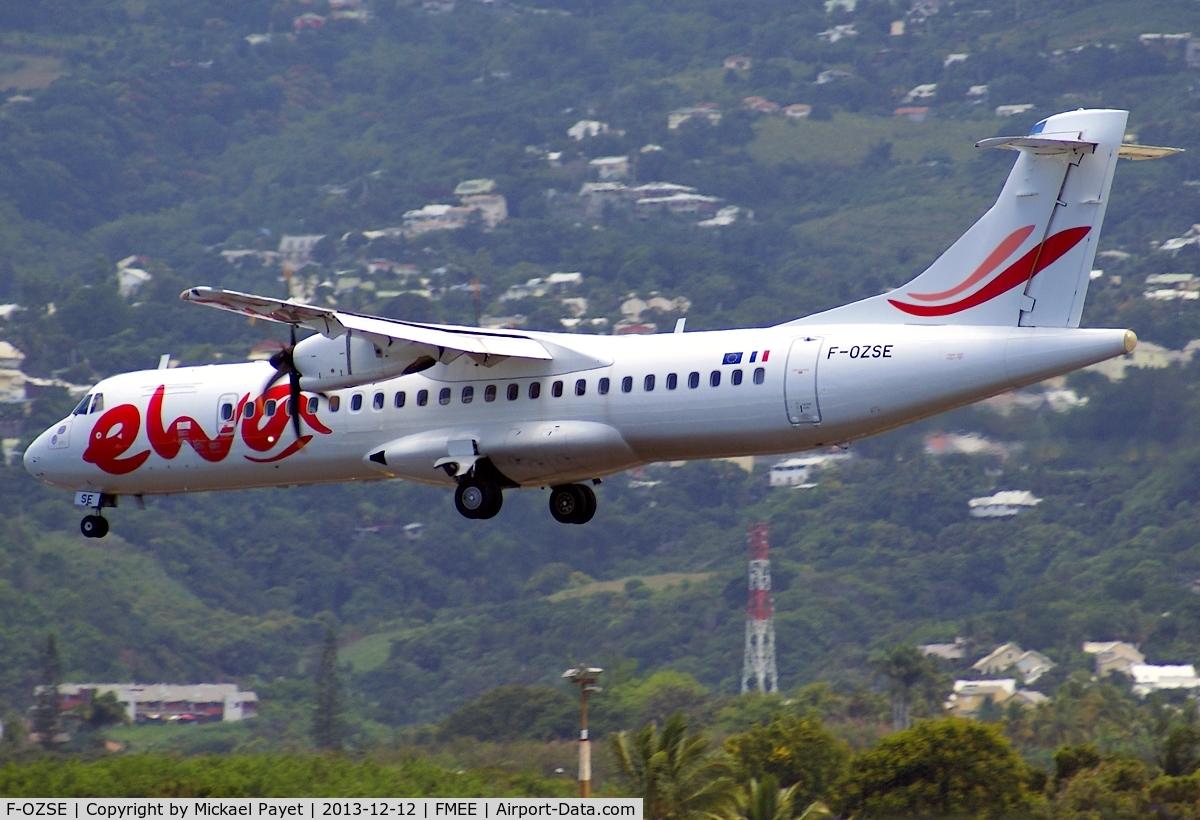 F-OZSE, 2008 ATR 72-212A C/N 813, F-OZSE became Ewa Air,a new airline base in Dzaoudzi,Mayotte